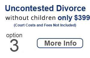 Uncontested Divorce Only $399